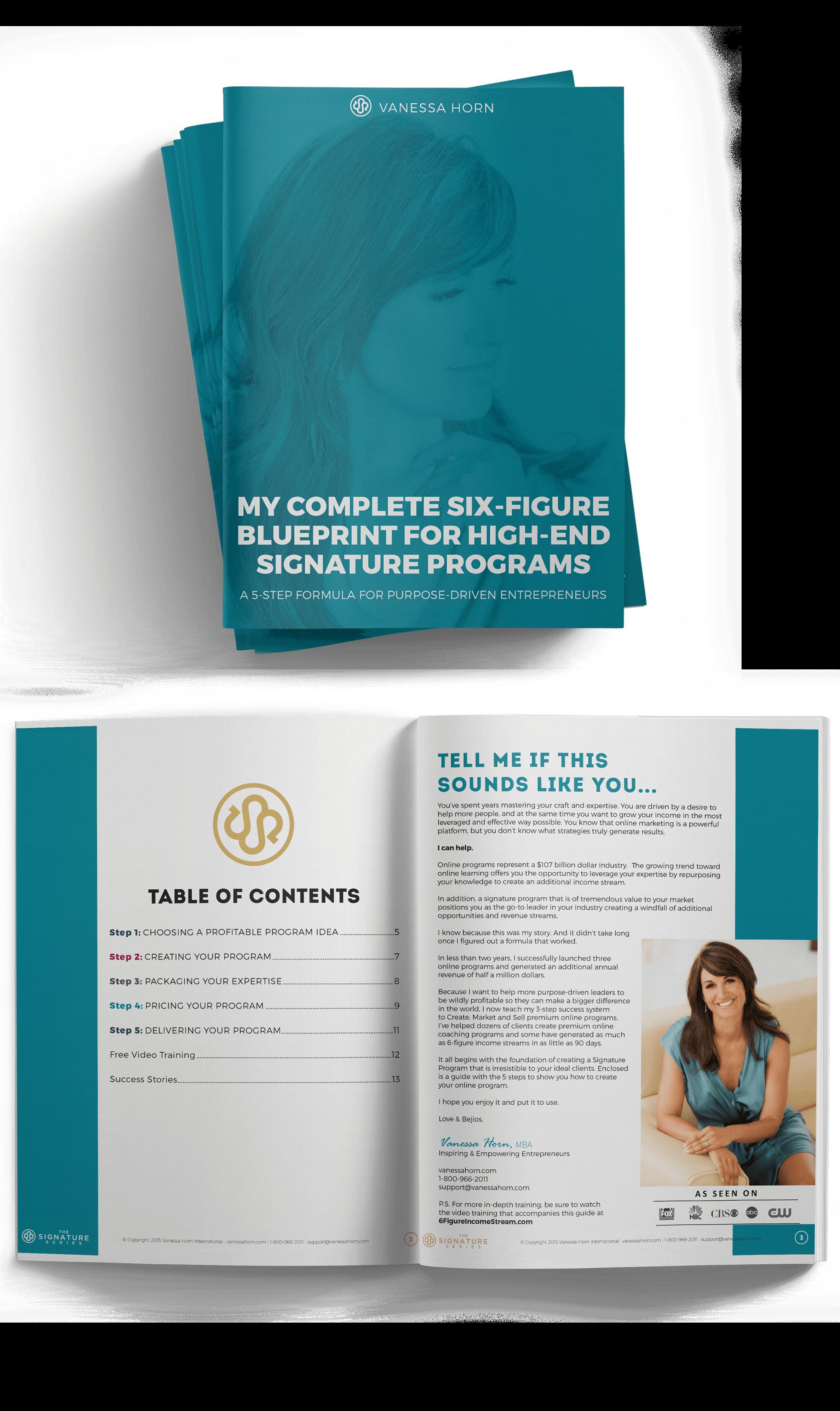High end signature programs six figure blueprint malvernweather Images